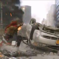 Thor landing.
