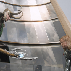 Loki prepares to kill Thor.