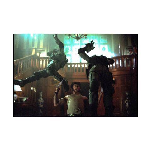 Logan throws two HYDRA members