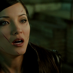 Deathstrike facial wounds from Wolverine's claws