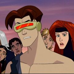 Cyclops after the Mansion explodes.