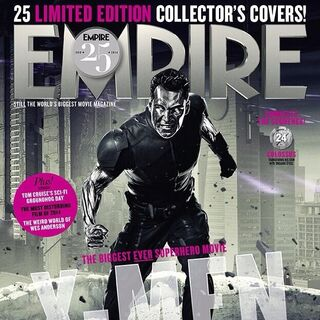 Colossus on the cover of <i>Empire</i>.