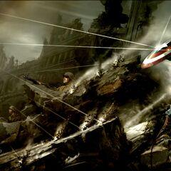 Captain America production concept art.