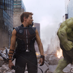 Hawkeye and Hulk.