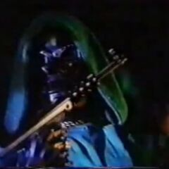 Dr. Doom with his gun.