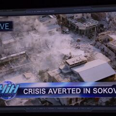 WHIH News covering the aftermath in Sokovia.