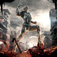 Ultron concept art featuring fallen Avengers