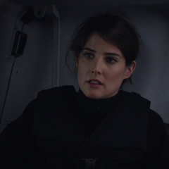 Maria Hill in Strike heavy uniform.