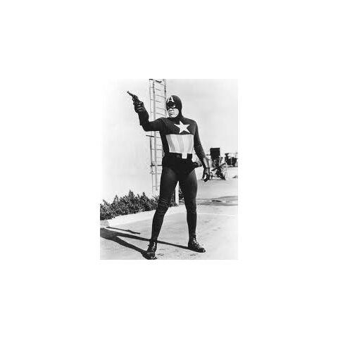The serial Captain America uniform.
