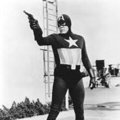 The serial Captain America uniform.