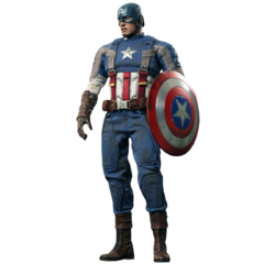 Modified version outfit of Captain America's WWII uniform: Golden Age from <i>Captain America: The Winter Soldier</i>.