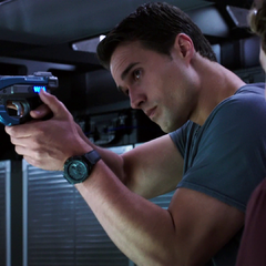 Ward inspecting the Night-Night Gun.