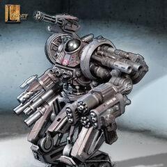 Concept art for a Canadian battle droid.