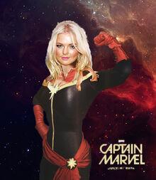 Hannah Spearitt as Captain Marvel