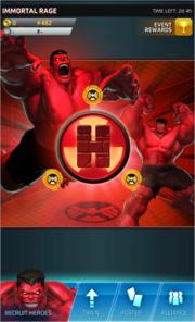 Immortal Rage Event Screen