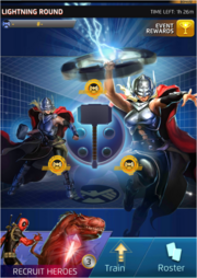 Thor Lightning Round (Anniversary) Event Screen