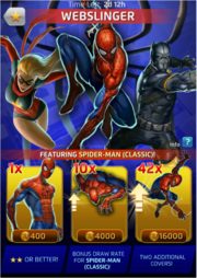 Webslinger Comic (Season VIII) Offer