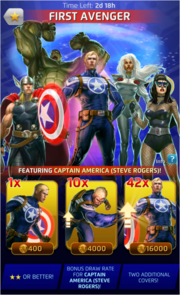 First Avenger Comic (Season IX) Offer