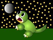 Ichthy the Ichthyostega- Starry Night