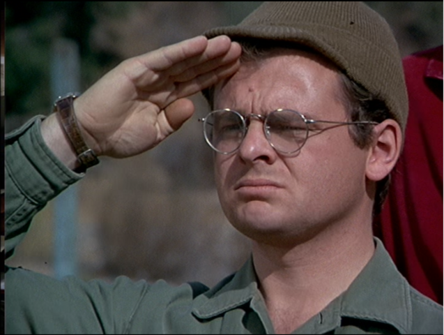 File:MASH episode-3x24 Radar salutes Henry.png