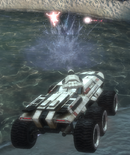 Mako - Virmire Cannon blasts trooper
