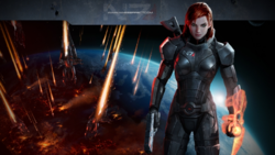 Shepard femenina de Mass Effect 3.