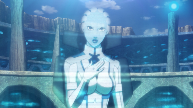File:Liara as a hologram.png