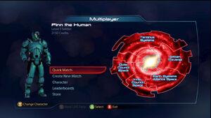 ME3 Multiplayer Main Menu