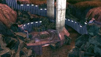 Eden Prime - beacon dig site