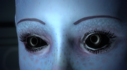 Liara uses her melding ability