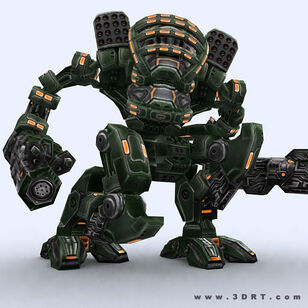 Character-sci-fi-3d-lowpoly-mech-robots-collection 09