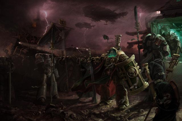 File:640x426 611 Siege of Vraks 2d sci fi war dark army lightning rainy 40k inquisitor forgeworld spacemarines siege o.jpg
