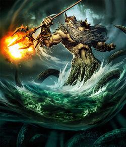 Poseidon-greek-god-sea-fiery-trident