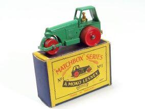 Matchbox -1B Road Roller 1955 England