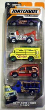 MATCHBOX 2015 MBX CITY ADVENTURE 5-PACK