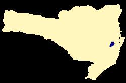 Localização de Águas Mornas, Santa Catarina