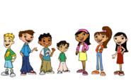Maya and Miguel Characters (Enlarged)