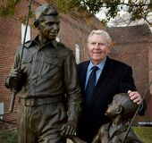 Andy Griffith and statue mt airy