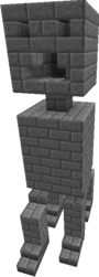 Stone brick creeper-full 3d 1