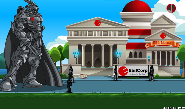 File:EbilCorp Takeover musem.png