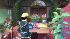 Zenkichi watering the flowers