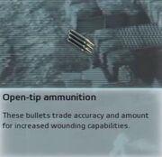 Open-tip ammunition