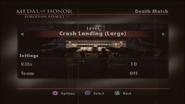 Crash Landing Menu Screen