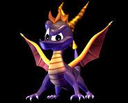 Spyro with black background