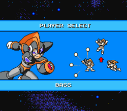 MegaMan Revolution Bass Player Select