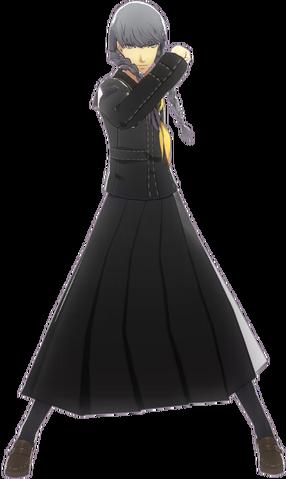 File:P4D Yu Narukami drag costume DLC.png