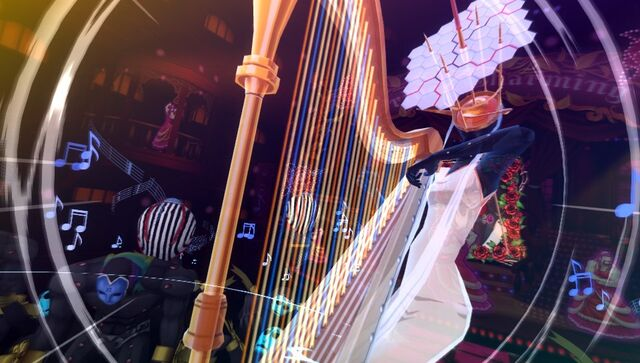 File:P4D Himiko playing a harp.jpg