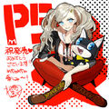 P5 Ann Takamaki tribute illustration by Arco Wada (Fate EXTRA series character designer).jpg