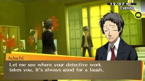 Persona 4 Golden Adachi Jester to Hunger Arcana New Scene