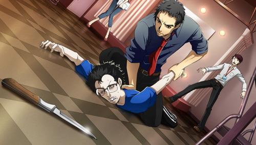 File:P4D Story Mode Investigation Team, Dojima restain suspicious man.jpg